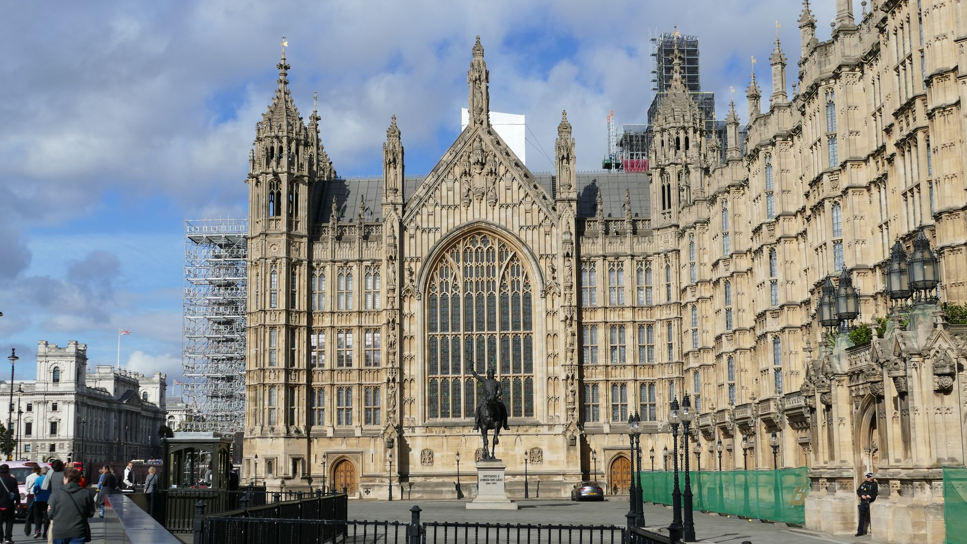 Westminster Palace & Stature of Richard I